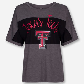 "Arena Texas Tech ""Rachel"" Heather Grey Short Sleeve Shirt"