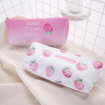 Cute Cartoon Stationery Pencil Pen Case Cosmetic Makeup Bag Zipper Pouch Case