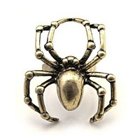 Old Fashion Spider Ring  by Hallomall