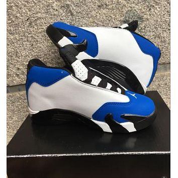 Nike Jordan Kids Air Jordan 14 Retro Royal Blue/White Kids Sneaker Shoe US 11C - 3Y-1
