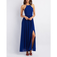 Bib Neck Maxi Dress