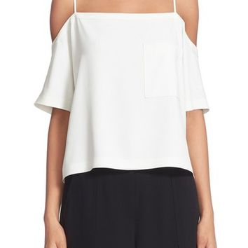 T by Alexander Wang Cold Shoulder Crop Top | Nordstrom