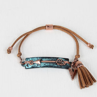 Vegan Leather Pull String Arrow Bracelet