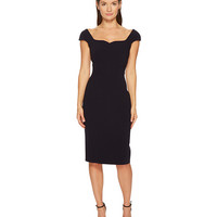 Zac Posen Bonded Crepe Cap Sleeve Sweetheart Dress