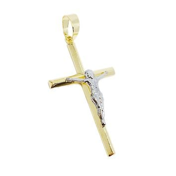 18K GL RH/GD Crucifix
