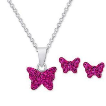 Girl's Sterling Silver Earring & Necklace Sets-50% OFF Retail!