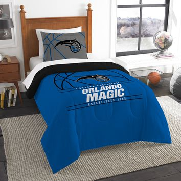 """Magic OFFICIAL National Basketball Association, Bedding, """"Reverse Slam"""" Printed Twin Comforter (64""""x 86"""") & 1 Sham (24""""x 30"""") Set  by The Northwest Company"""