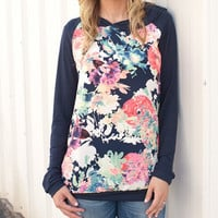 Fashion printed round neck hooded T-shirt-2
