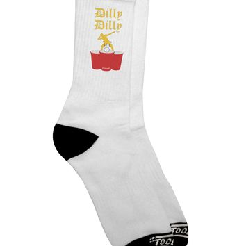 Dilly Dilly Funny Beer Adult Crew Socks  by TooLoud