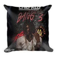 Bang 3 (16x16) All Over Print/Dye Sublimation Chief Keef Couch Throw Pillow Insert & Pillow Case/Cover