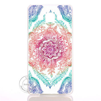 Multi Color Mandala Flower Datura Floral Clear Hard Plastic Case Cover For Samsung Galaxy S3 S4 S5 Mini S6 S7 Edge Note 2 3 4 5 7