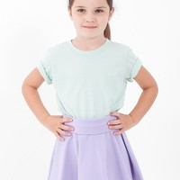 8153 - Kids Cotton Spandex Jersey Wide Waistband Skirt