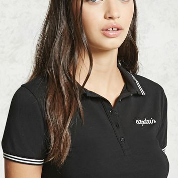 Captain Embroidered Polo Shirt
