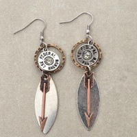 Dangling Federal Bullet Arrow Earrings