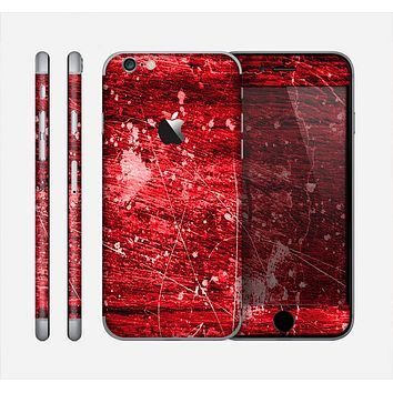 The Red Grunge Paint Splatter Skin for the Apple iPhone 6