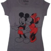 Disney Mickey Minnie Mouse Kiss Licensed Graphic T-Shirt - 2XL