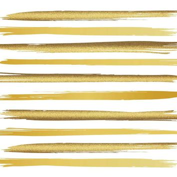 Gold Flake Paint Stripes Printed Backdrop - 6723