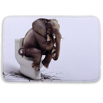 Fashion Cartoon 3D bath mat Animal Elephant lion bathroom mat for Living Room Bedroom Floor Mats Kitchen Rugs Entrance Doormats