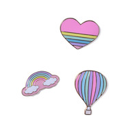Love & Rainbows Pin Set - Pink