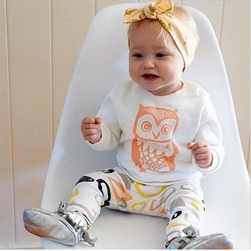 New arrival girl & boys clothes set long sleeve+Pants pattern set of clothes newborn baby suit children clothing