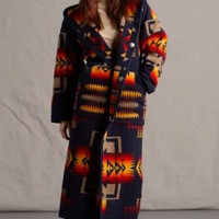 Womens Long Coats, Reversible Pendleton ® Wool Fabric Long Coat