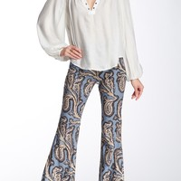 Free People | Paradise Printed Flared Linen Blend Pant | Nordstrom Rack
