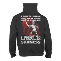 Fairy Tail - I fight to save those who hold sadness -Unisex Hoodie  - SSID2016
