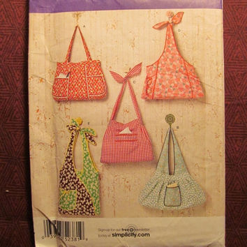 SALE Uncut Simplicity Sewing Pattern, 2381! Arts & Crafts Fashion Accessories/Women's Accessories/Shoulder Bags/Handbag Purses/Hippie Purses
