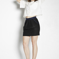 Tweed Contrast Mini Skirt