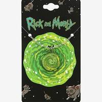 Licensed cool Cartoon Network Rick And Morty Spinning Portal Pendant Necklace Gift Licensed