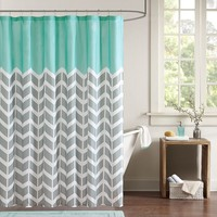 Intelligent Design Laila Fabric Shower Curtain (Green)