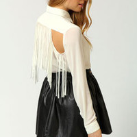 Amber Tassle Back Shirt