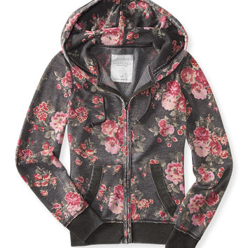 Floral Full-Zip Hoodie from Aéropostale | WOMENS
