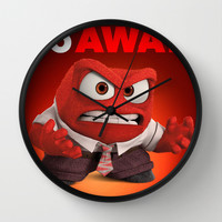 INSIDE OUT ANGER Wall Clock by Acus