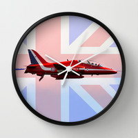 Red Arrow Union Jack Wall Clock by Karl Wilson Photography