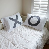 The Rise and Fall XO Pillow Case Set - Womens Scarves - White - One
