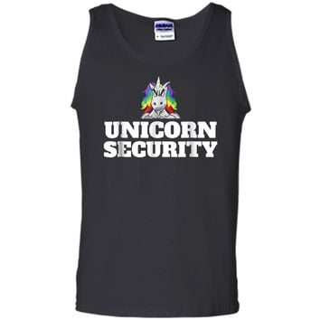 Mens Unicorn Security  Tank Top