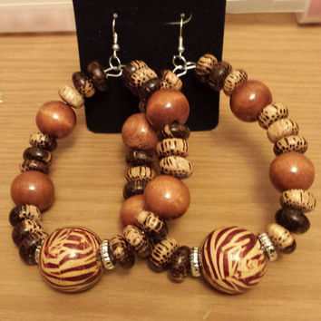 African inspired wood bead design