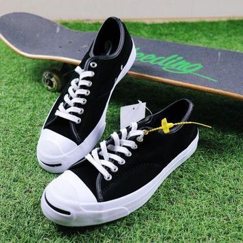 CREYNW6 Sale Polar Skate Co. x CONVERSE Jack Purcell Pro XO Black Suede Skateboard Shoes Sneaker