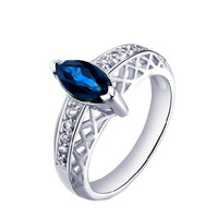0.8ct sapphire silver ring