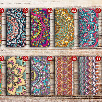 iphone 6 wallet case aztec flower folio magnetic detachable leather cover for apple iphone 4 4s 5 5s 5c 6s plus ipod touch aztecflower