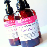 Lavender Lotion by ZEN-ful, Hand Lotion, Body Lotion, Paraben Free Lotion, Gift Ideas