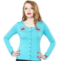 Sourpuss Lovely Anchor Cardigan | Rockabilly | Pin Up