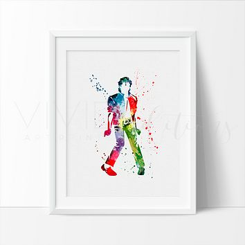 Michael Jackson Watercolor Art Print