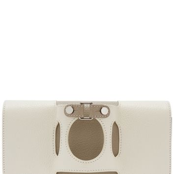 Le Cabriolet tri-tone leather clutch
