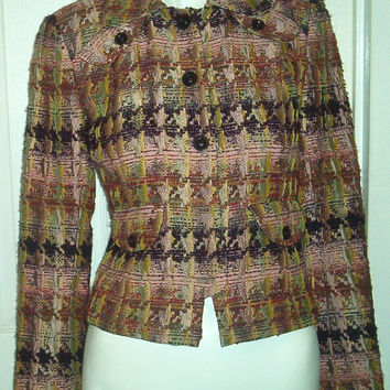 BOUCLE RIBBON TWEED Jacket Size 2