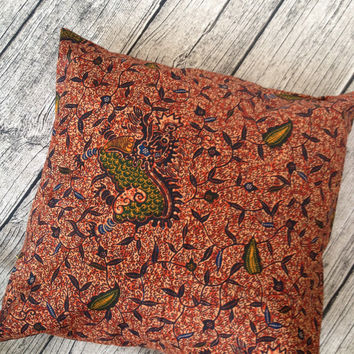 African Cushion pillow cover, African wax print  (17 inch) chintz