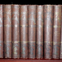 1800s Antique Book Set Complete in 9 Volumes Lord Edward Bulwer Lytton's Works