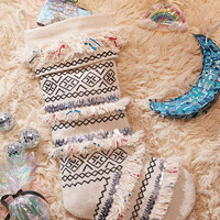 Fringed Holiday Stocking - Urban Outfitters