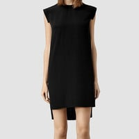 ALLSAINTS US: Womens Tonya Lew Dress (Black)